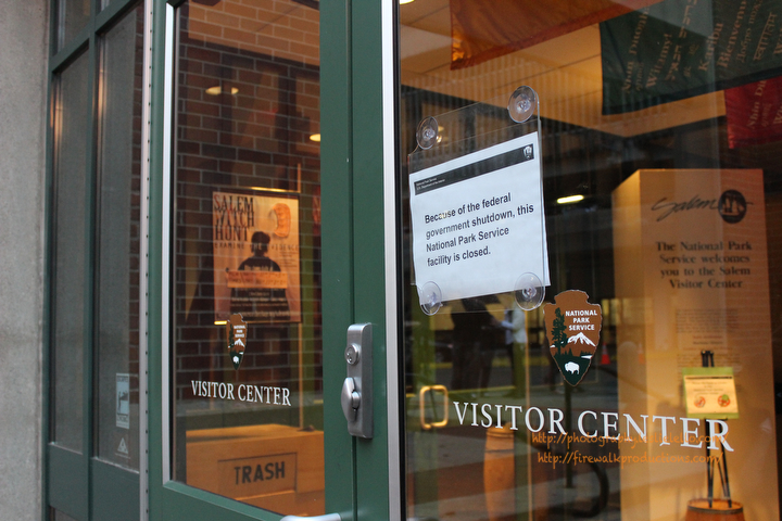 Salem Massachusetts Visitors Center United States Government Shutdown on Tourism