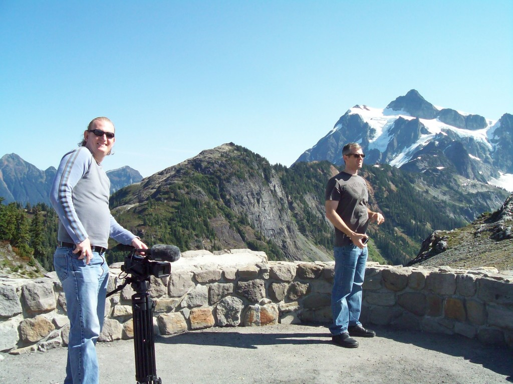 With Friends at Mt. Baker in Washington.