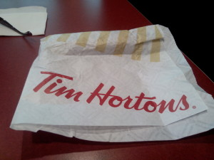 Trusty Tim Horton's for Coffee and Wi-Fi