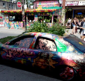 kensington Market in Toronto near Planet Traveler Hostel by Leslie Lello